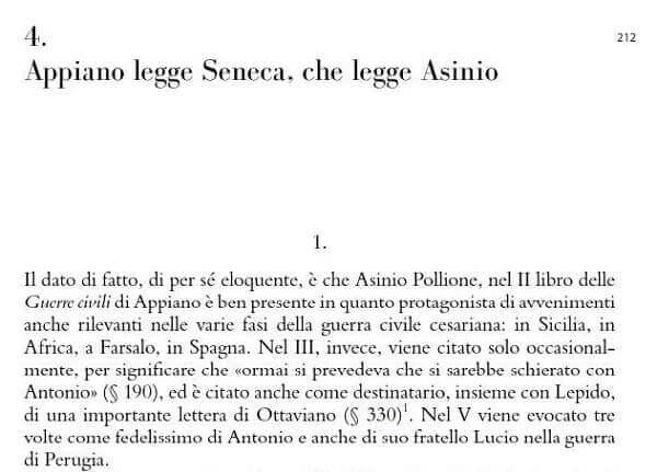 """L'inizio del capitolo 4 del libro """"Augusto figlio di Dio"""" di Luciano Canfora"""