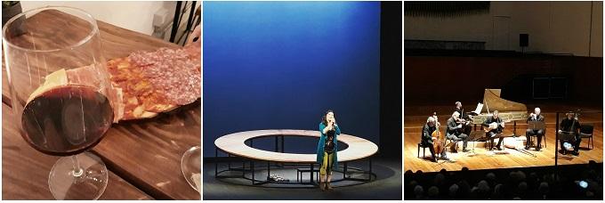 tapas prima dello spettacolo Stabat Mater con Maria Paiato e del concerto di Jordi Savall