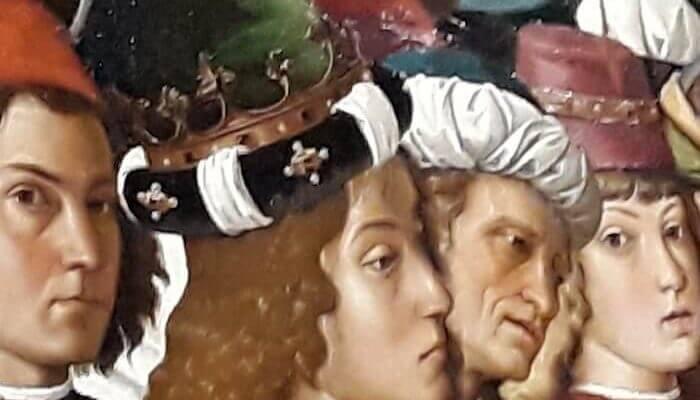 Autoritratto del Perugino nell'Adorazione dei Magi (Perugia)