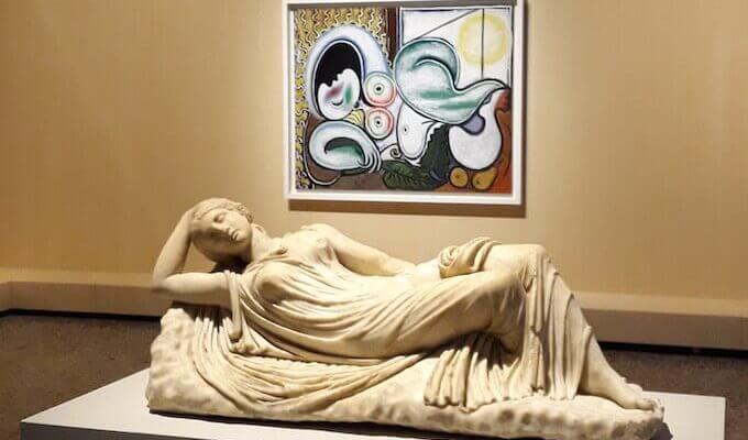 """Una sala della mostra """"Picasso Metamorfosi"""" allestita al Palazzo Reale di Milano"""